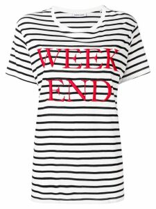 Quantum Courage 'Week End' striped T-shirt - Black