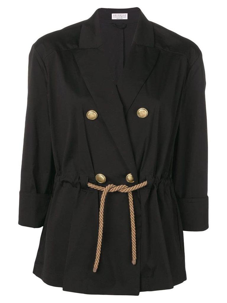 Brunello Cucinelli double breasted blazer - Black
