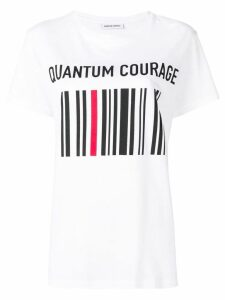 Quantum Courage barcode print T-shirt - White