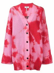 MSGM oversized tie-dye cardigan - Pink