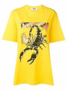 MSGM scorpion dream T-shirt - Yellow