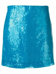 Alberta Ferretti blue sequin skirt