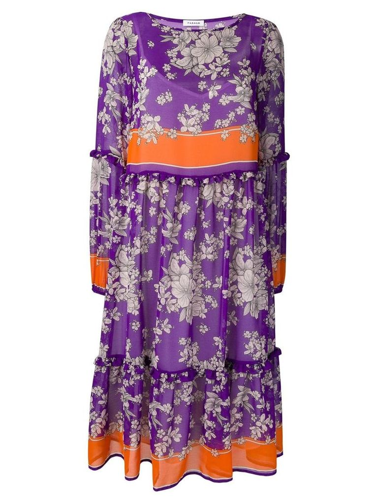 P.A.R.O.S.H. floral print dress - Purple