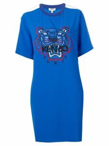 Kenzo tiger-print T-shirt dress - Blue