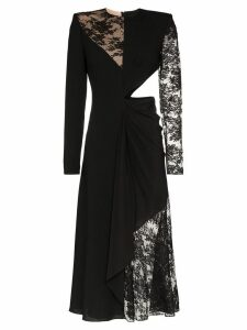 Givenchy lace insert cut out midi dress - Black