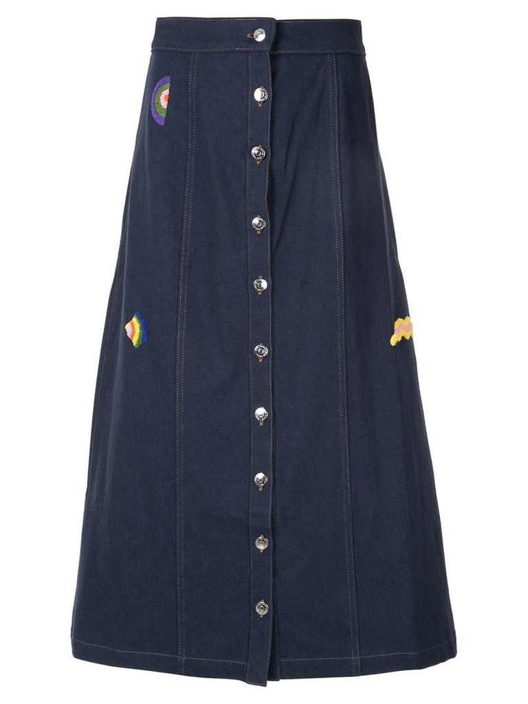 Être Cécile wavy shapes celeste skirt - Blue