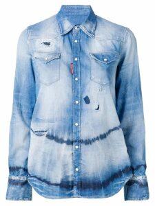 Dsquared2 tie dye denim shirt - Blue