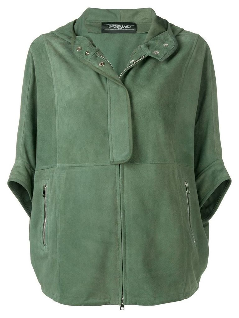 Simonetta Ravizza relaxed-fit leather jacket - Green