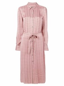 Equipment classic check shirt dress - Pink