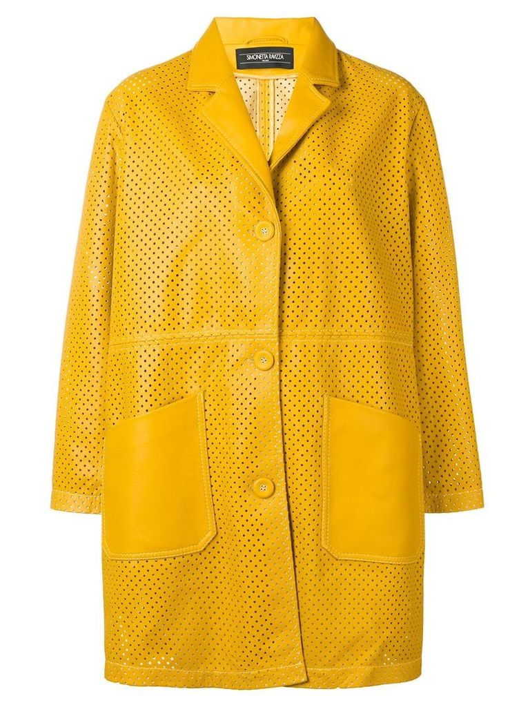 Simonetta Ravizza classic leather coat - Yellow