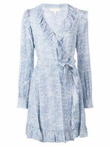 Michael Kors Collection floral wrap-around dress - Blue