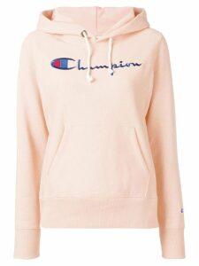 Champion logo print hoodie - Pink