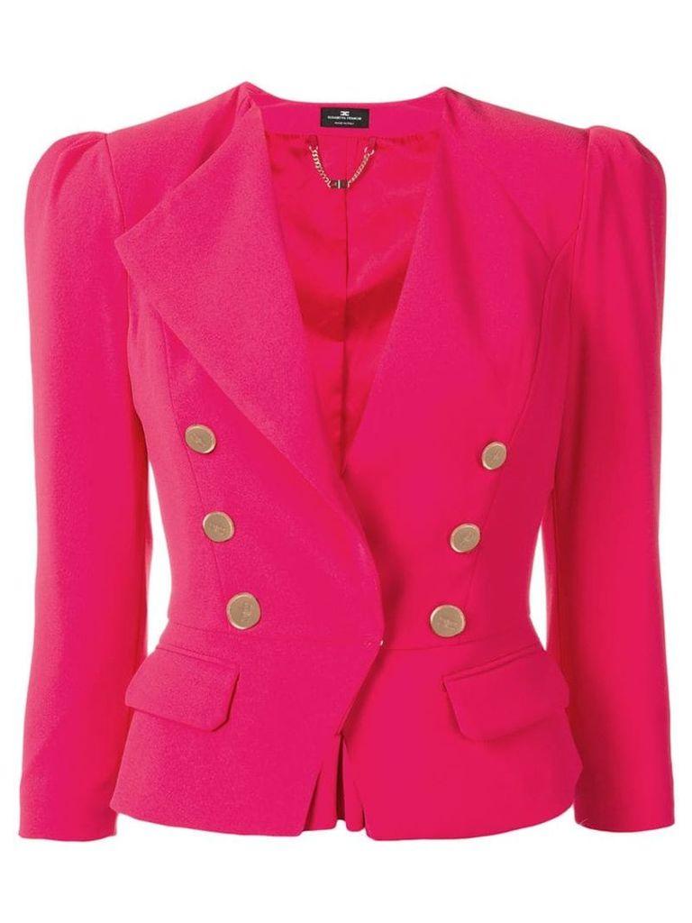 Elisabetta Franchi classic fitted blazer - Pink