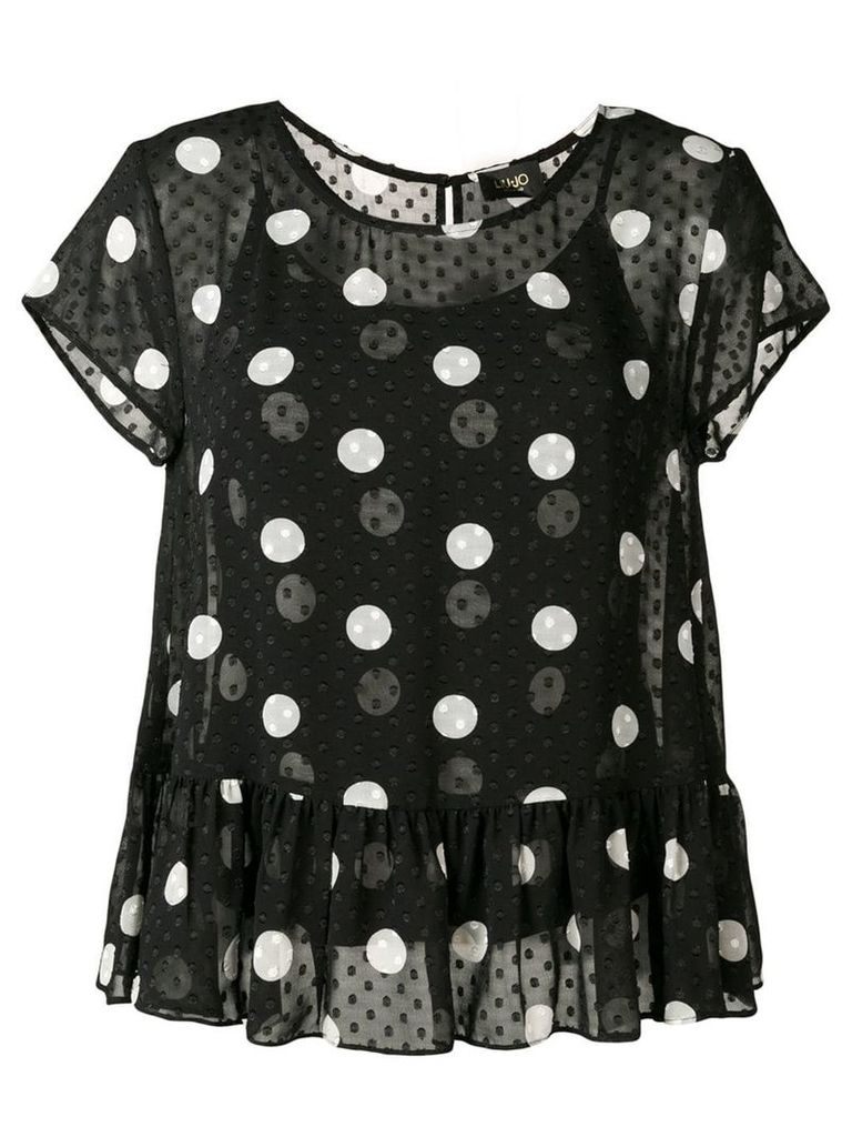 Liu Jo polka-dot sheer blouse - Black