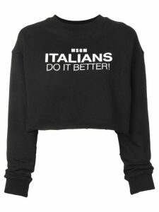 MSGM Italians Do It Better sweatshirt - Black
