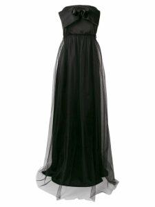 Pinko strapless flared maxi dress - Black