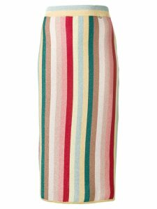 Elisabetta Franchi striped midi skirt - Yellow