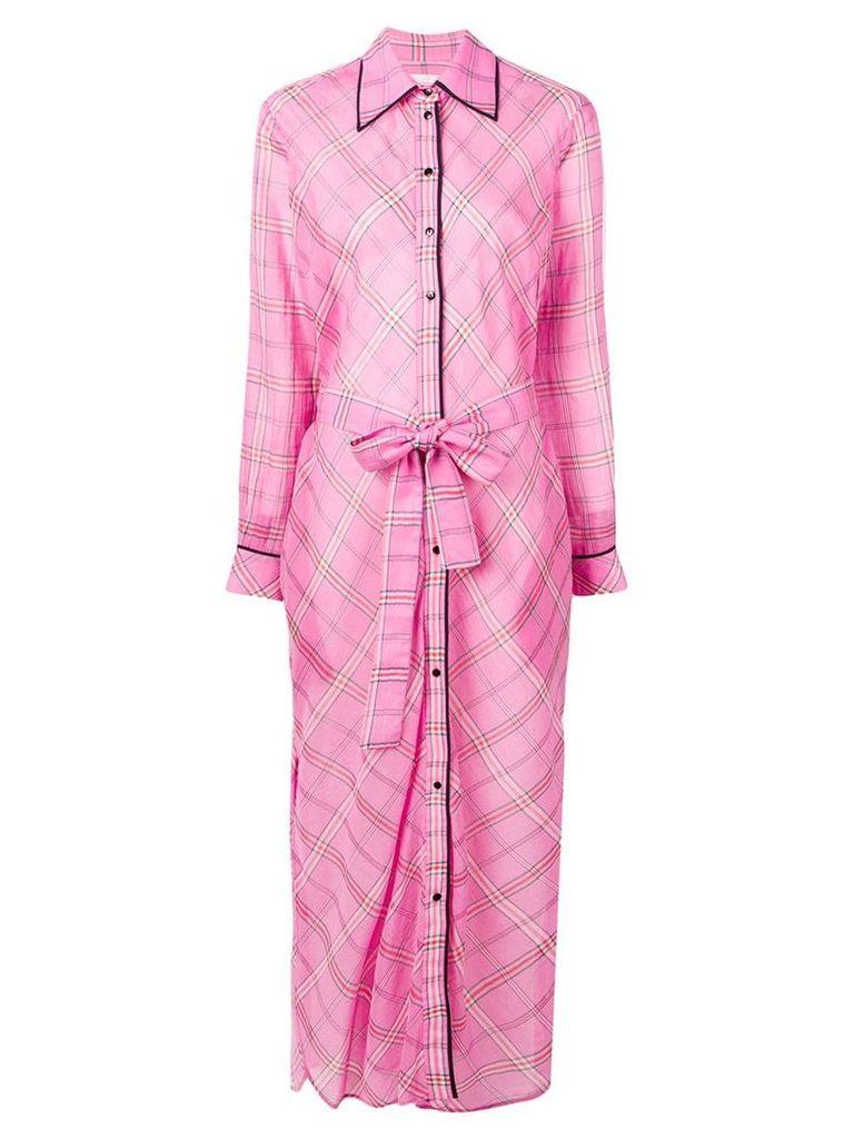 Victoria Victoria Beckham long checked shirt dress - Pink