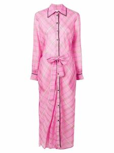 Victoria Victoria Beckham long checked shirt dress - Pink