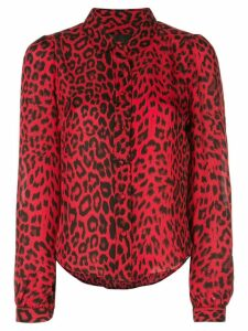 RtA leopard print shirt - Red