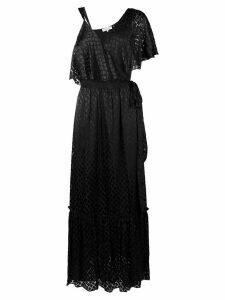 Diane von Furstenberg asymmetric sleeve gown - Black