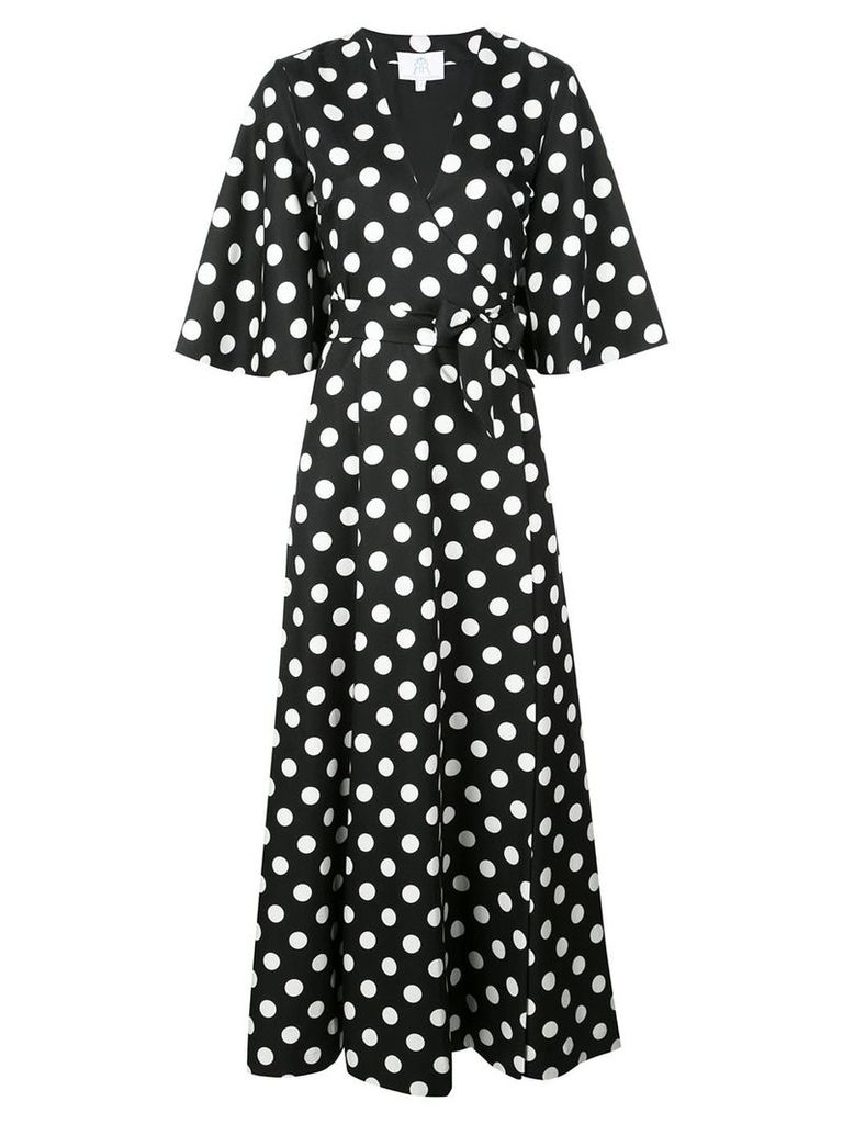 Rebecca De Ravenel polka dot wrap dress - Black