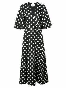 Rebecca De Ravenel polka dot wrap dress - Black