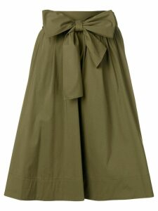 Steffen Schraut bow tie A-line skirt - Green