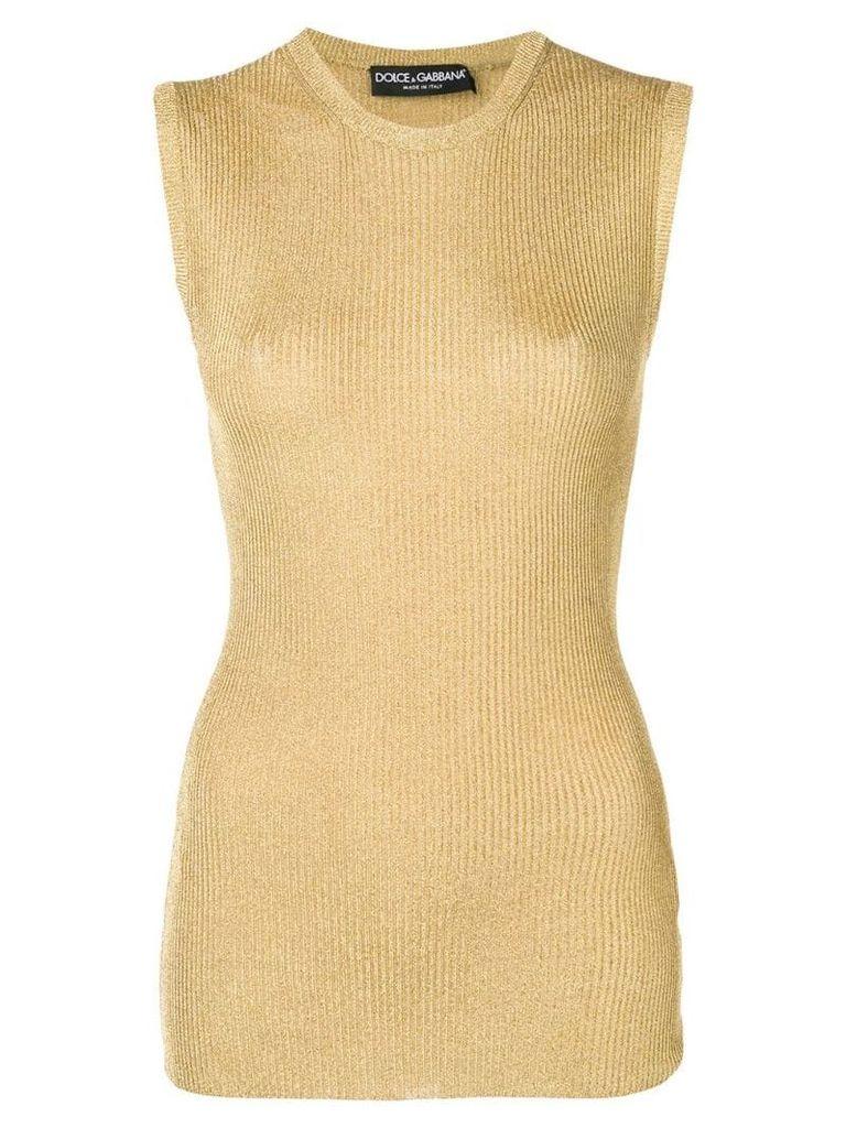 Dolce & Gabbana knitted tank top - Gold