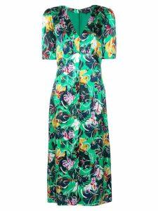 Saloni floral print dress - Green