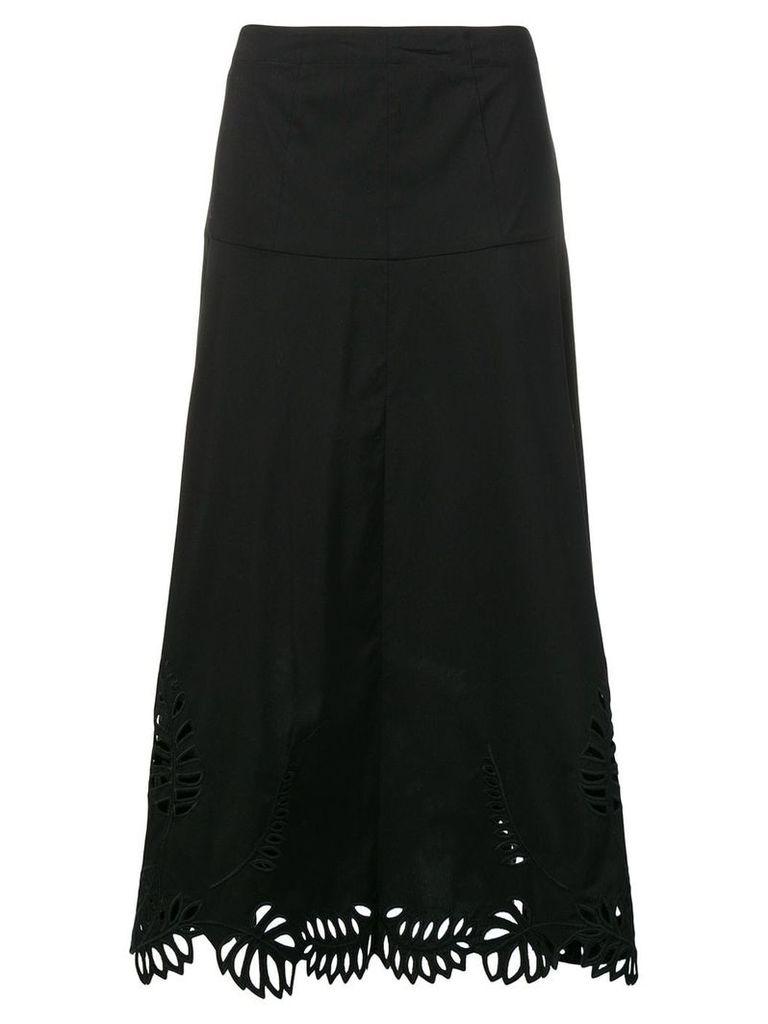 Steffen Schraut embellished hem midi skirt - Black