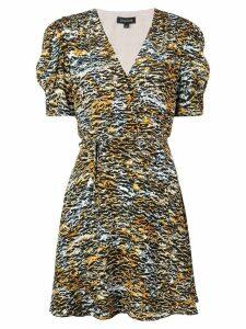 Saloni tiger print dress - Brown