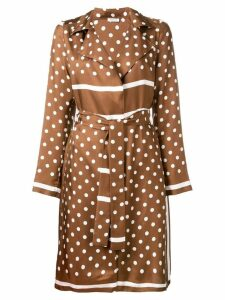 P.A.R.O.S.H. polka dot trench coat - Brown