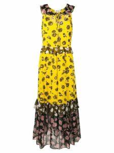 Dvf Diane Von Furstenberg long floral dress - Yellow