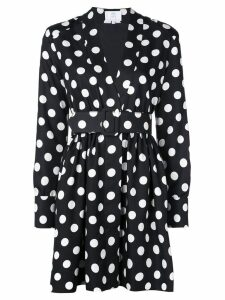 Rebecca De Ravenel polka dot belted dress - Black