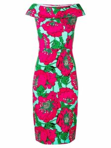 P.A.R.O.S.H. floral print fitted dress - Pink