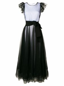 P.A.R.O.S.H. tulle empire line dress - Black