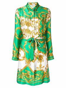 P.A.R.O.S.H. printed shirt dress - Green