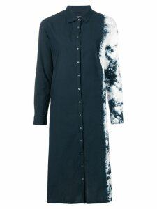 Suzusan tie-dye shirt dress - Black
