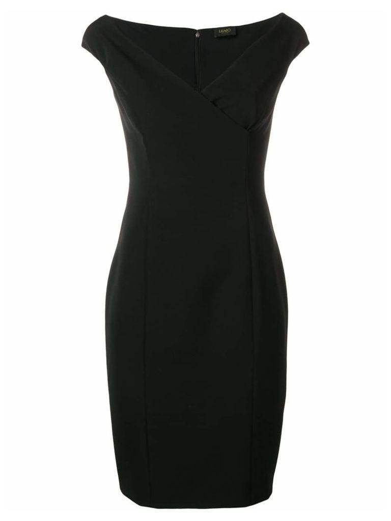 Liu Jo wrap detail V-neck mini dress - Black