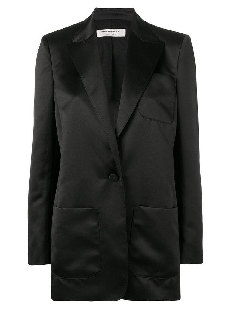 Philosophy Di Lorenzo Serafini single breasted blazer - Black