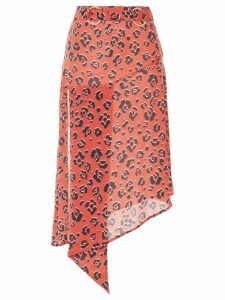 Suboo Zanzibar print belted midi skirt - Orange