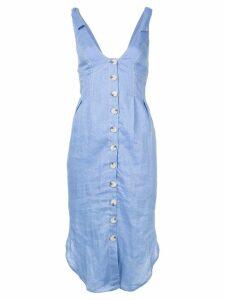Suboo tie shoulder midi dress - Blue