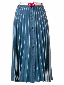 Elisabetta Franchi pleated midi skirt - Blue