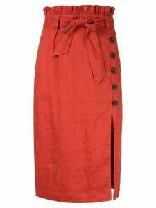 Suboo Rising Sun paperbag skirt - ORANGE