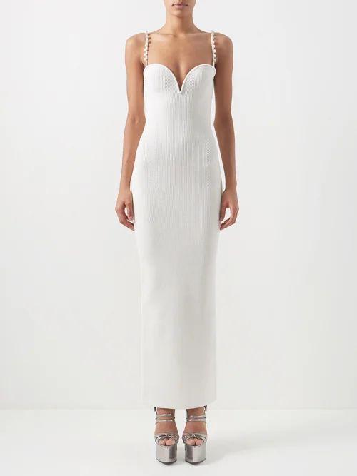 Alexachung - Open Back Crocheted Cotton Blend Top - Womens - Beige