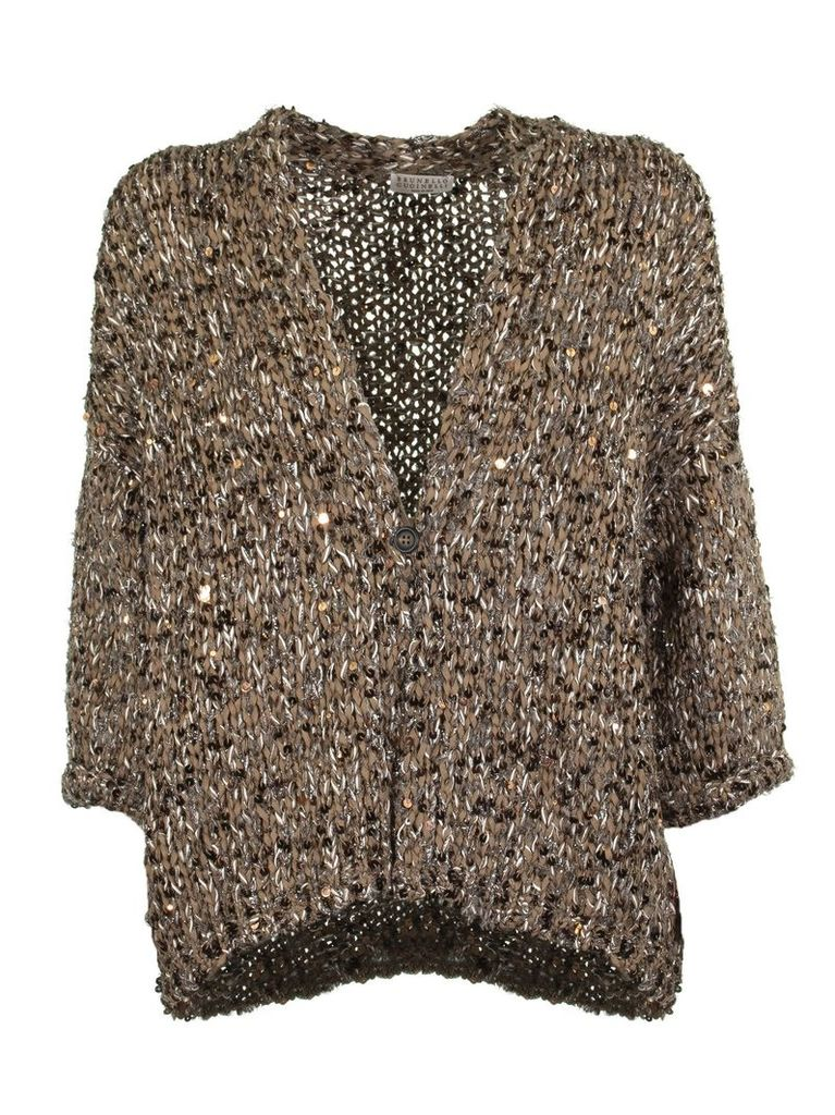 Brunello Cucinelli Textured Knit Cardigan
