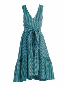 Parosh Bow Flared Dress