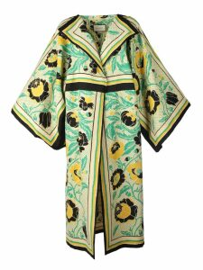 Gucci Floral Print Oversized Coat