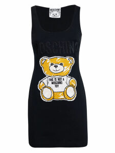 Moschino Embroidered Bear Dress